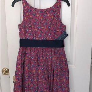 NWT Ralph Lauren dress. Navy blue belt. Size 10.
